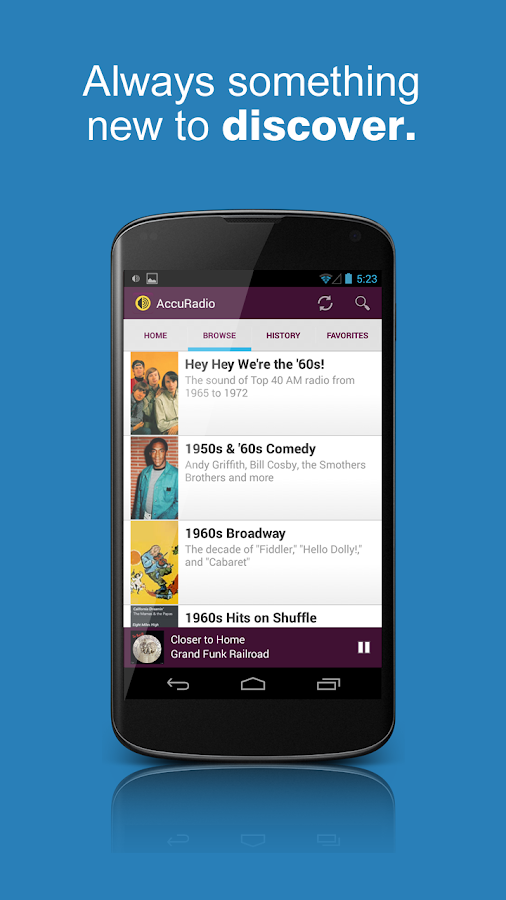 AccuRadio - screenshot