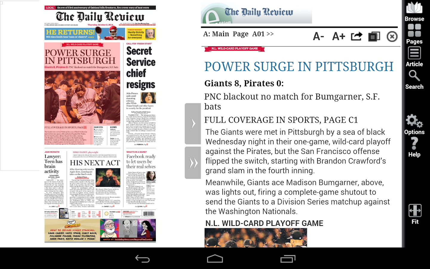 The Daily Review e-Edition - screenshot