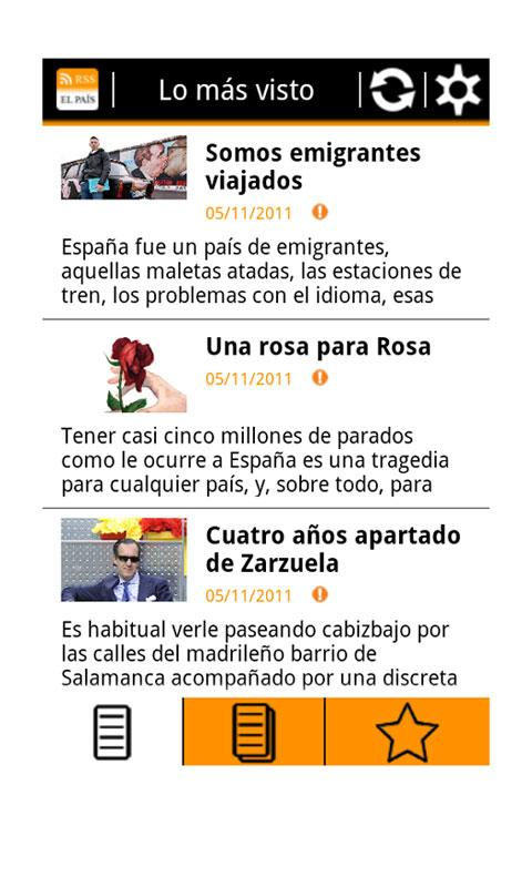 RSS El País- screenshot