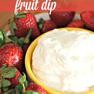Whipped White Chocolate Fruit Dip