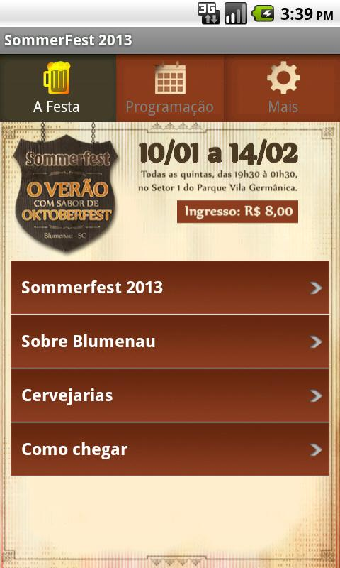 Sommerfest 2013 Oficial - screenshot