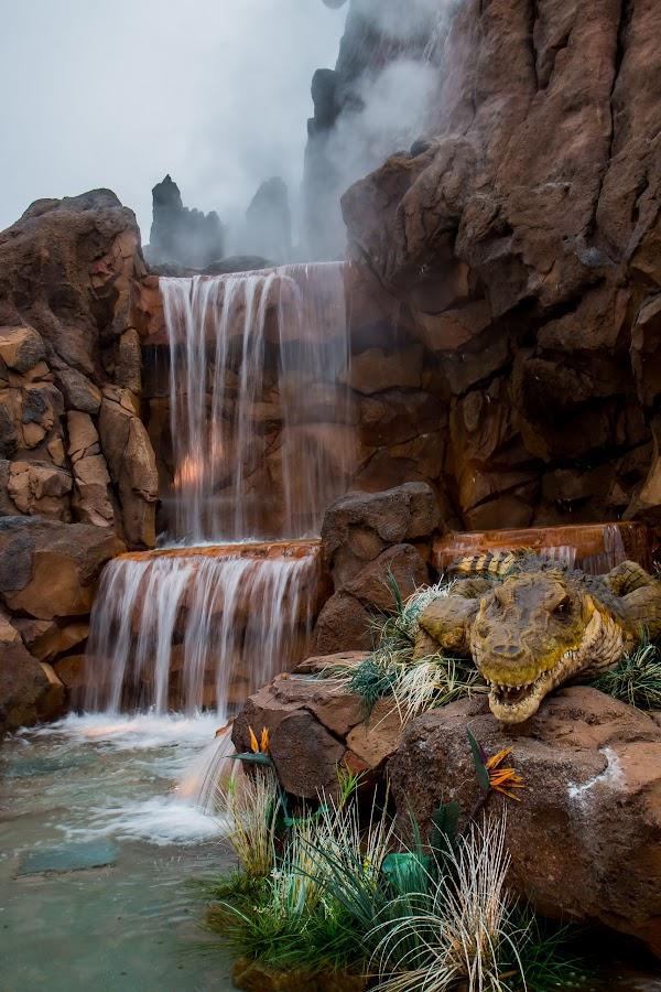 Water falls seen @ Downtown Disney by Kalyan Peri - Landscapes Waterscapes ( falls; water; landscape; canon 17-55mm is usm; downtown disney orlando )