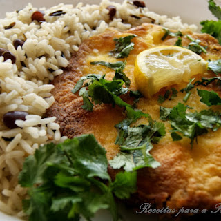 Fried Blue Shark with Wild Rice Mix