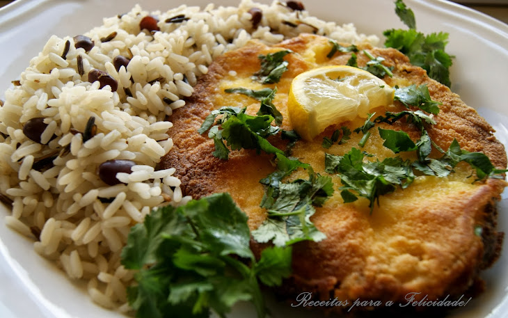 Fried Blue Shark with Wild Rice Mix Recipe