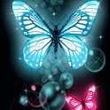 Glitter Butterflies Wallpaper icon