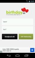 Screenshot of Birthday.se