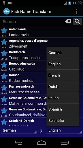 Fish Name Translator Offline