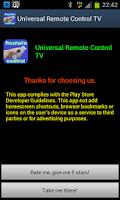 Screenshot of Universal Remote Control TV