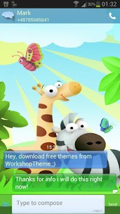 GO SMS Pro Theme animals - screenshot thumbnail