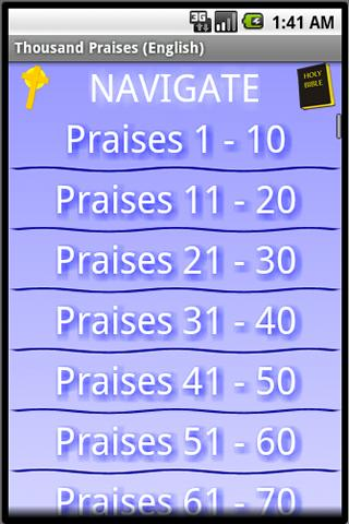 Thousand Praises (English)- screenshot