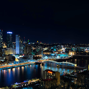 Downtown Pittsburgh by Kris Rowlands - City,  Street & Park  Skylines