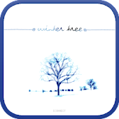 Winter tree go launcher theme