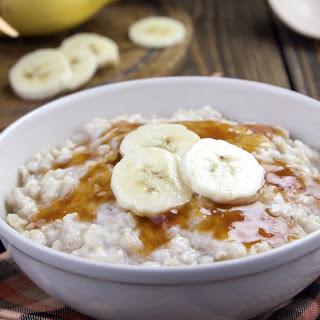 Slow Cooker Gluten-Free Peanut Butter Banana Oatmeal.
