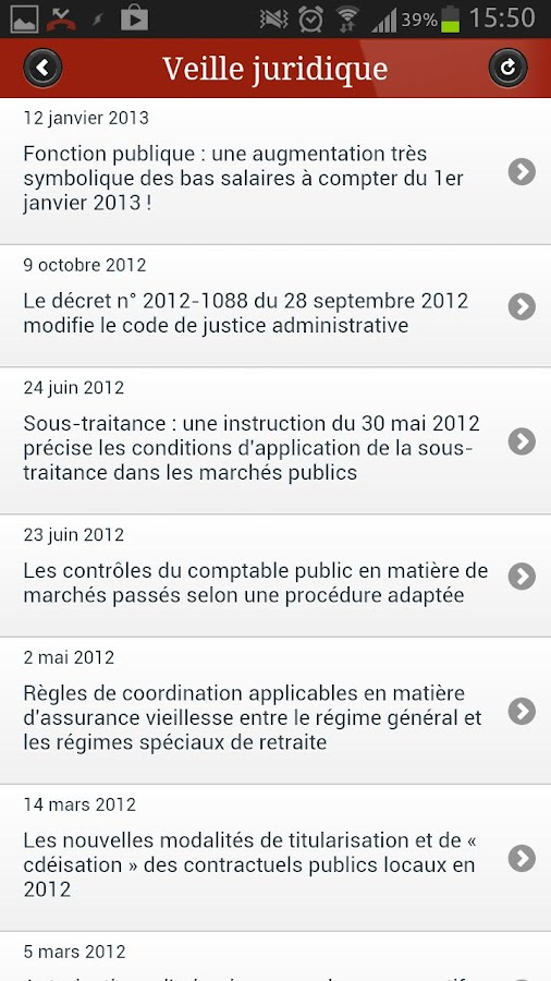 Jurisconsulte- screenshot