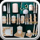 Wedding candles DIY