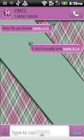 Screenshot of GO SMS THEME/PlaidButterflys4