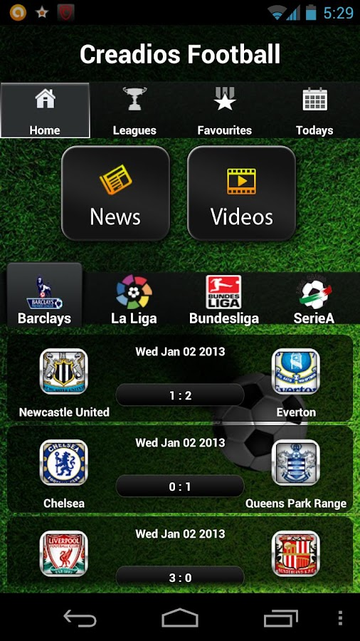 Football Scores Live - screenshot