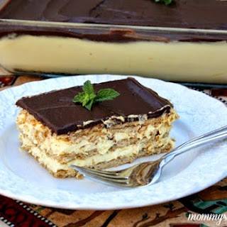 Easy No Bake Chocolate Eclair Cake