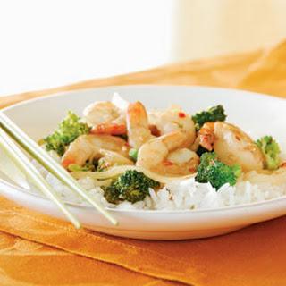 Shrimp and Broccoli Stir-Fry.