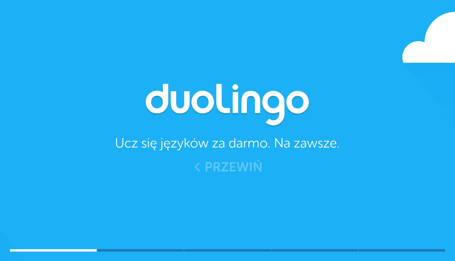 Angielski za darmo z Duolingo – zrzut ekranu