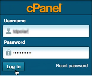 CPanel Log in