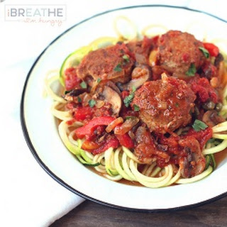 Low Carb Chicken Cacciatore Meatballs