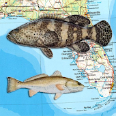 Florida Reef Fishing Scuba Map