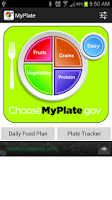 Screenshot of MyPlate Tracker