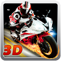 3D Runaway motorcycle icon
