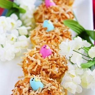 Springtime Birds Nest Cupcakes.
