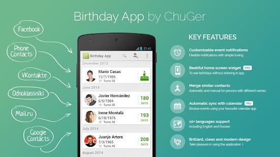 Birthday App Free- screenshot thumbnail