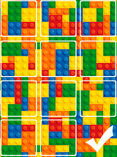 Slide Puzzle with Lego Toys
