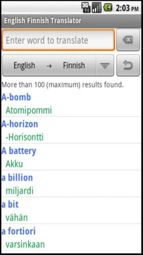 English Finnish Translator