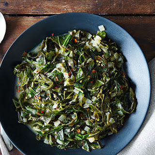 Collard Greens Braised in Coconut Milk.