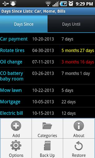 Days Since Lists