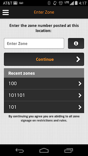 PassportParking Mobile Pay Screenshot