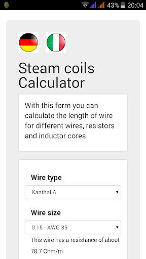 Steam coils Calculator