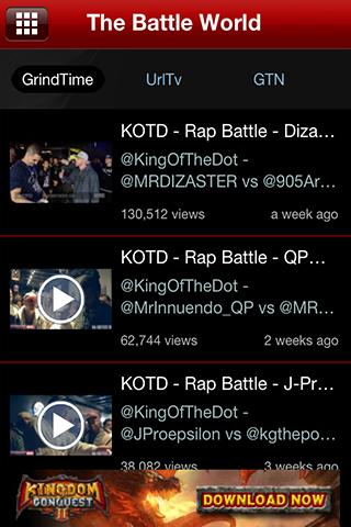 The Battle Rap App - screenshot