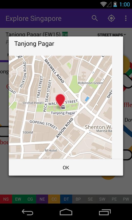 Explore Singapore MRT map - screenshot