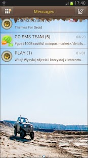 GO SMS Pro OFF ROAD Theme - screenshot thumbnail