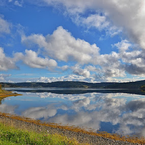 Reflection by Hilde Lorgen - Landscapes Waterscapes ( reflection, sky, sea, norway )