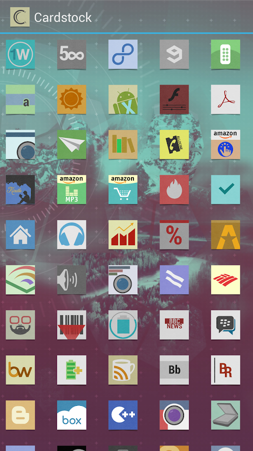 Cardstock icon theme - screenshot