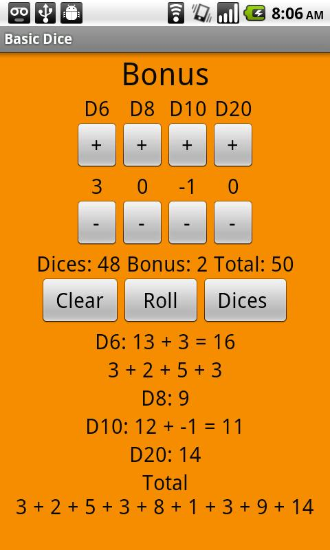 Basic Dice - screenshot