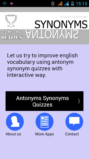 Antonyms Synonyms