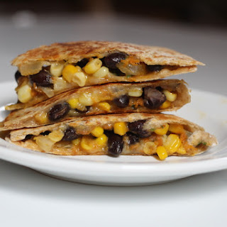 Spicy Corn and Black Bean Quesadillas