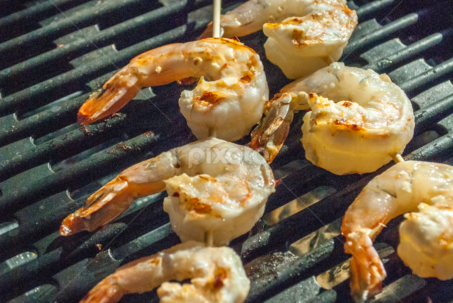 Shrimp Grill by Dave Clark - Food & Drink Cooking & Baking ( grill, shrimp, barbecue )