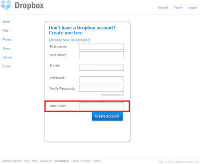 Dropbox註冊篇-02.註冊需要BetaCode