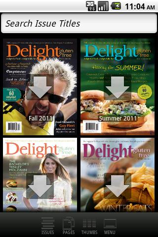 Delight Gluten-Free Magazine - screenshot