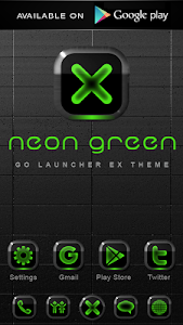Poweramp skin Neon Green v1.34
