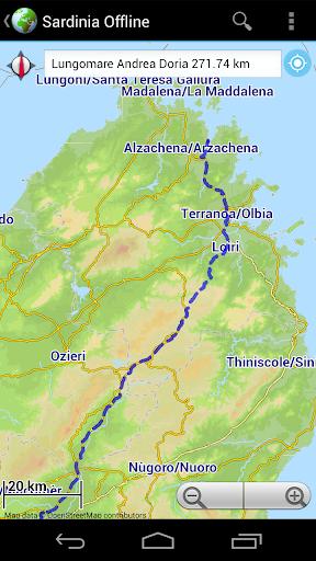 Offline Map Sardinia, Italy 玩旅遊App免費 玩APPs